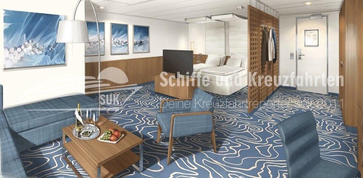 Die neuen AIDAcara Premium Suiten